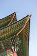 Detail of traditional roof at Changdeok Palace in Seoul, South K