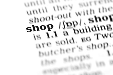 shop  (the dictionary project)