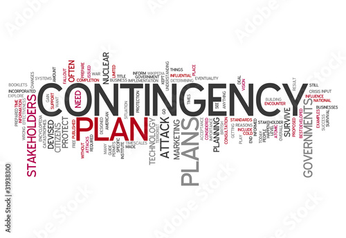 "Word Cloud ""Contingency Plan"""