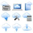 Cloud Hosting Icons