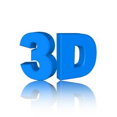 3D Text blau