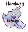 Hamburg Übersicht flieder in SVG