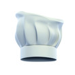 cook cap, chef's hat isolated on the white