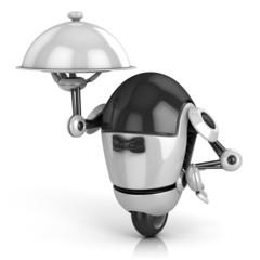 funny robot - waiter