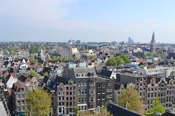 Paesaggio di Amsterdam dal campanile della Oude Zijde