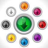 Download Shiny Colorful Web Button