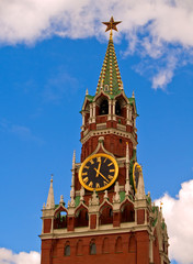 clock tower of Kremlin, Moscow, Russia