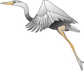 Летящий журавль