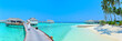 Leinwanddruck Bild - Maldives island Panorama
