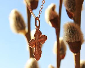 Золотой крестик и верба