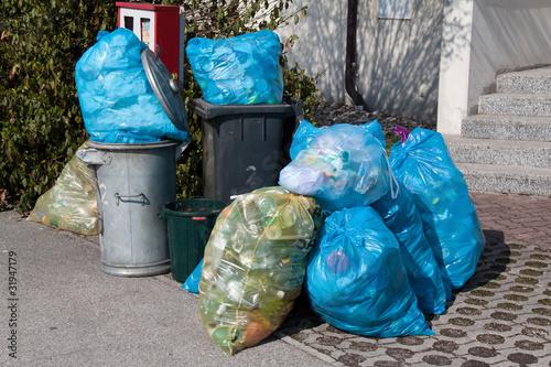 Plastikmüll - Müllabfuhr - Mülltrennung