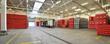 Panorama - Verladung in einer Lagerhalle Getränkeindustrie