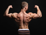 Muscle sexy back of bodybuilder