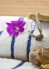 décoration zen institut massage, serviette, savon ...