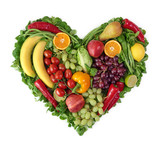 Fototapety Heart of fruits and vegetables