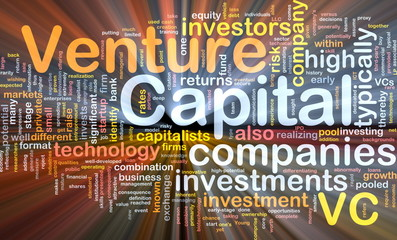 Venture capita background concept glowing