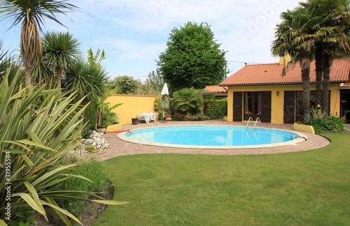 jardin exotique avec piscine - 31955584