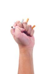 A hand grip cigarette