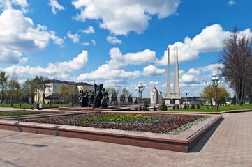 Belarus nice Vitebsk spring landscape view World war two victory