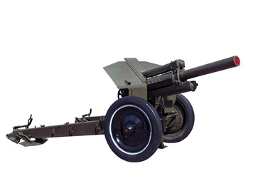 world war two vintage rarity soviet howitzer M30 isolated on whi