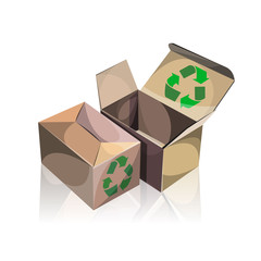 vector recycle boxes