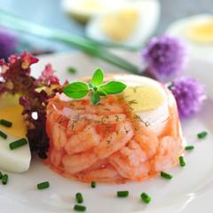 Shrimps im Aspik