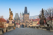 Charles Bridge,sunrise,Small Quarter(Mala Strana),Bohemia,Prague