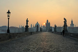 Sunrise in Prague, view from the Charles Bridge - Fine Art prints