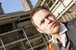 Mann auf der Baustelle, Porträt