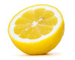 lemon over white background, clipping path