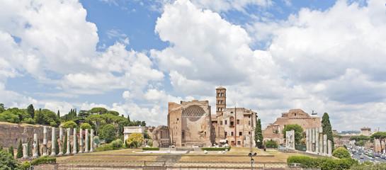 Panorámica del foro romano - Roma - Italia