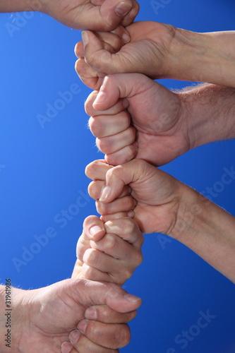 Kette aus Händen