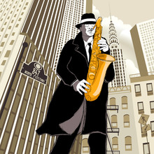 Saxofonista en una calle