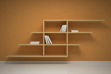 Bookshelf on the wall