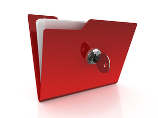 Folder icon with key