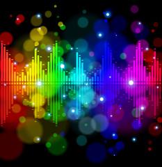 Color digital wave - technology background