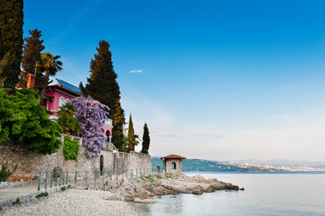 Adriatic Sea scenic view. Opatija, Croatia