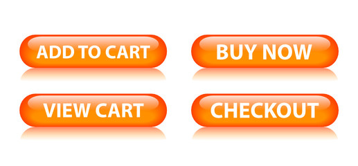 ADD TO CART | VIEW CART | BUY NOW | CHECKOUT Orange Web Buttons