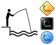 Fisherman pictogram and signs