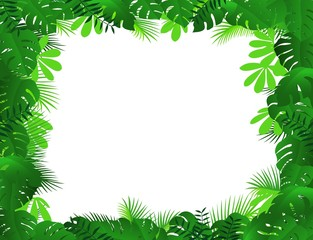 green leaf frame background