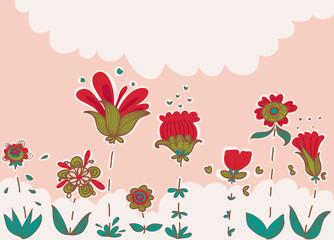 giardino con buffi fiori