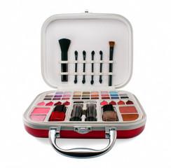 Professional make-up tools isolated on white background