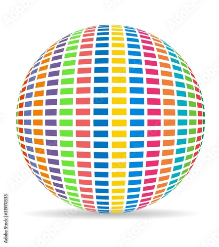 colorful ball with equalizer ball