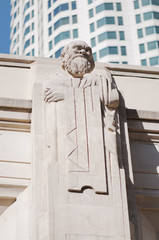 Socrates statue in Los Angeles Public Library