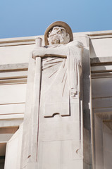 Herodotus statue in Los Angeles Public Library