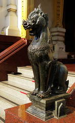 lion statue guardian  in temple