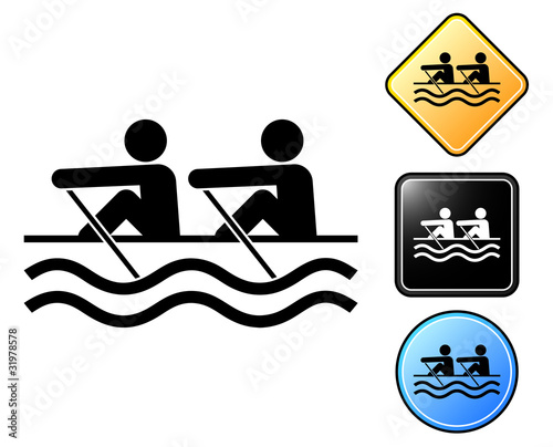 Rowing pictogram and signs
