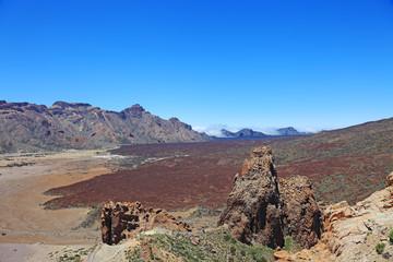 Vlocanic desert landscape, national park El Teide, Tenerife, Can