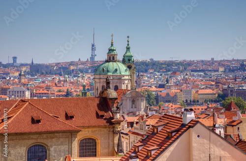 Papiers peints Orange eclat Old town view in Prague, Czech.