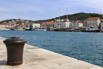 View across Trogirski Kanal of The Riva Trogir
